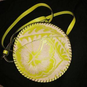 Rare NWOT Patricia Nash Round Leather bag!!